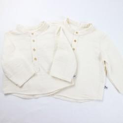 Chemise bébé fabriquée en France créateur vêtement original et biologique
