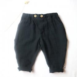 Pantalon lange noire coton biologique