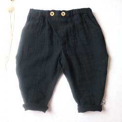 Matière biologique pour une peau de bébé bien protégée, pantalon lange noire
