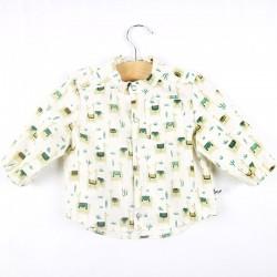 Un cadeau de naissance unique la chemise 100% coton lama bio, la mode au naturel!