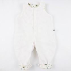 Idée cadeau de naissance une combinaison en velours de coton organique doublée motifs lama.