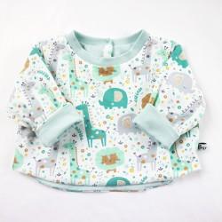 Tee-shirt bébé mini-jungle vêtement bio création fait-main