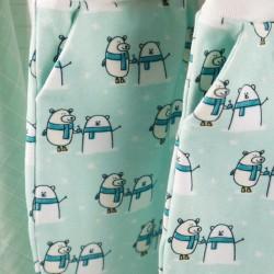 pantalons bébés oursons polaires création couture GOTS fabrication artisanale en france
