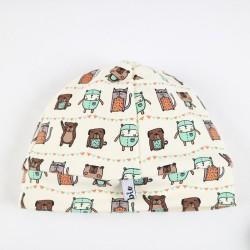 Idée cadeau de naissance le bonnet bébé sweat organique tout doux.