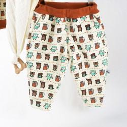 Pantalon bébé créateur en sweat de coton biologique,  mode et trendy.