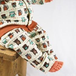 Présentation du pantalon bébé en sweat de coton naturel et bio collection automne hiver.