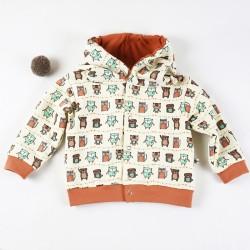 Veste à capuche en sweat biologique création bébé idée cadeau de naissance.