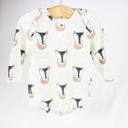 Body bébé renards dormants une création originale en coton stretch biologique.