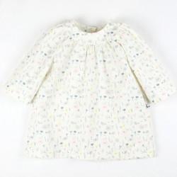 Création originale la robe Giulia confectionnée en coton organique fabriquée en France.