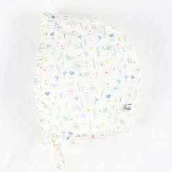 chapeau béguin rétro-chic avec son volant en tissu biologique.