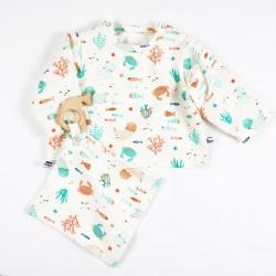 Haut bébé mixte en jersey de coton issu de l'agriculture biologique, un cadeau éco-responsable.