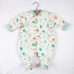 Pyjama naissance océan idée cadeau tissus bio.