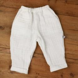 Petit pantalon bébé élégant du 3 au 24 mois, création originale, modèle Milo.