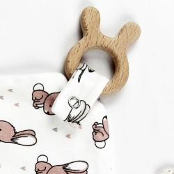 Petit doudou doublé tencel, accessoire écolo pour un bébé coquin!