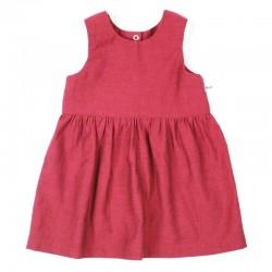Robe framboise été fille sans manche fabrication française.