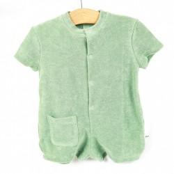 Combi-short bébé micro éponge organique confort et nature.